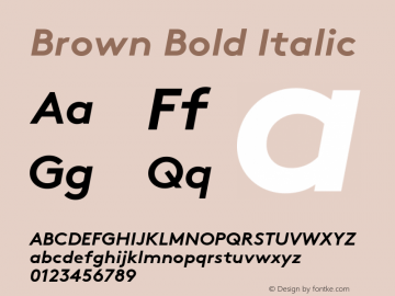 Brown Bold Itali Version 1.001图片样张