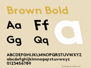 Brown Bold Version 1.001图片样张