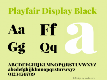 Playfair Display Black Version 1.000图片样张