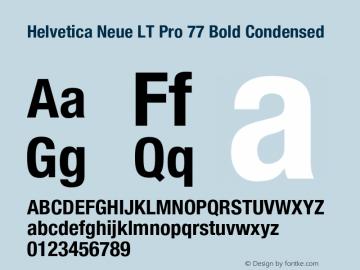HelveticaNeueLTPro-BdCn Version 1.500;PS 001.005;hotconv 1.0.38图片样张
