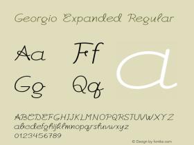 Georgio-ExpandedRegular Version 1.000图片样张