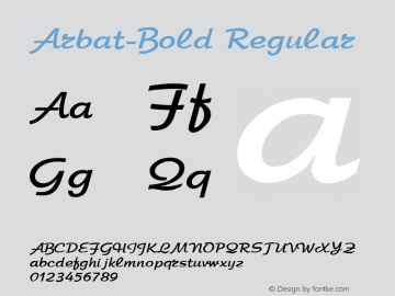 Arbat-Bold Converted from c:\windows\russ_fon\7ARBAT03.TF1 by ALLTYPE图片样张