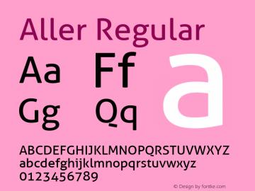Aller-Regular Version 1.001图片样张