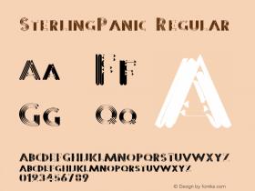 SterlingPanic 1.0 of this Metalic Panic-y little font thingie图片样张