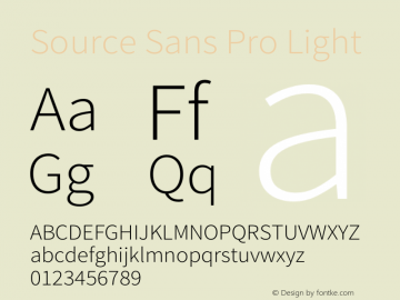 Source Sans Pro Light Version 1.034;PS Version 1.000;hotconv 1.0.70;makeotf.lib2.5.58329图片样张