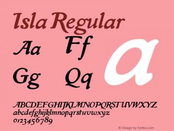 Isla-Regular Version 001.000图片样张
