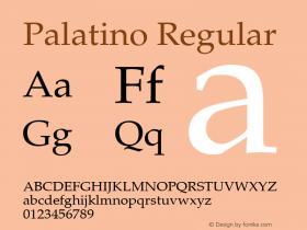 Palatino Regular 001.005图片样张