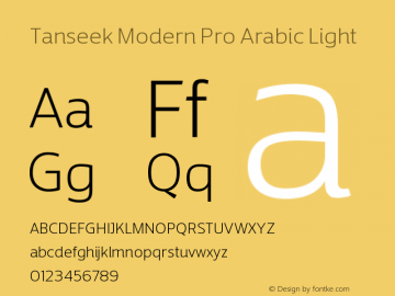 TanseekModernProArabic-Light Version 1.000图片样张