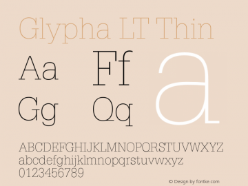 GlyphaLT-Thin 006.000图片样张