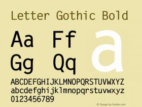 Letter Gothic Bold 19: 93779图片样张