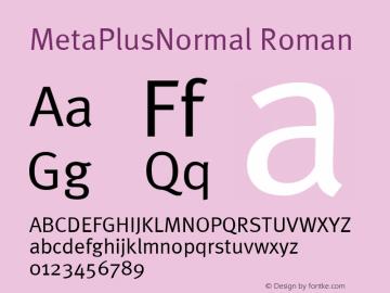 MetaPlusNormal Roman Altsys Fontographer 4.0.3 07-05-2003图片样张
