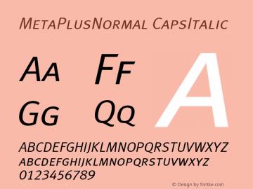 MetaPlusNormal CapsItalic Altsys Fontographer 4.0.3 07-05-2003图片样张