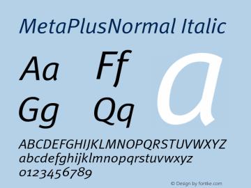 MetaPlusNormal-Italic Version 001.000图片样张
