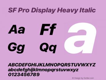 SF Pro Display Heavy Italic Version 13.0d3e20图片样张