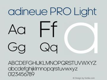 adineue PRO Font,adineue PRO Light Font,adineuePRO-Light