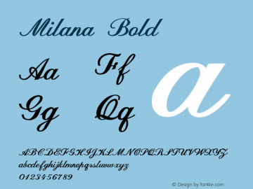 MilanaBold Version 1.000图片样张