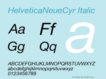 HelveticaNeueCyr-Italic 001.000图片样张