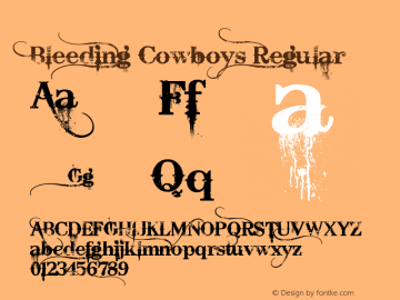 Bleeding Cowboys Version 1.00 June 28, 2007, initial release图片样张