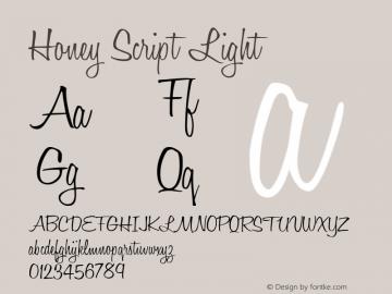 Honey Script Light 001.007图片样张