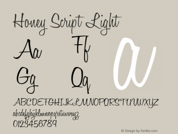 Honey Script Light 001.007图片样张