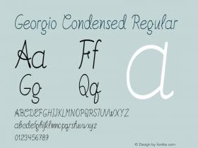 Georgio-CondensedRegular Version 1.000图片样张