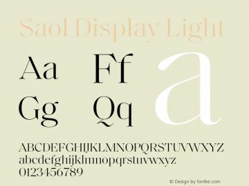Saol Display Font,SaolDisplay-Light Font,Saol Display Light