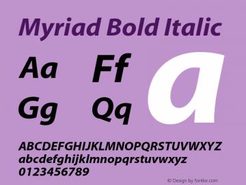 Myriad Bold Italic OTF 1.000;PS 001.000;Core 1.0.34图片样张