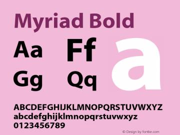 Myriad Bold OTF 1.000;PS 001.000;Core 1.0.34图片样张