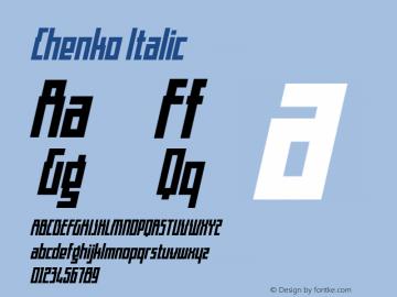 Chenko Italic Version 1.00 February 5, 2017, initial release图片样张