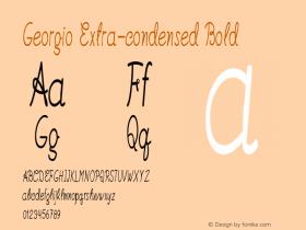 Georgio-ExtracondensedBold Version 1.000图片样张