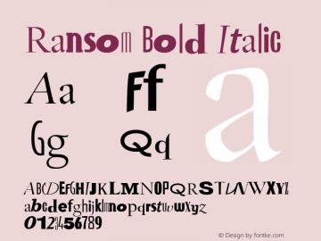 Ransom Bold Italic Version 1.05图片样张