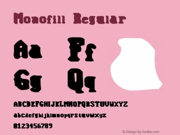 Monofill Regular 1999; 1.0, initial release图片样张