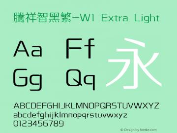 腾祥智黑繁-W1 Version  1.00图片样张