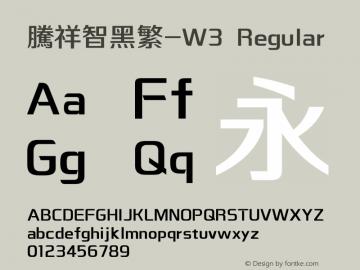 腾祥智黑繁-W3 Version  1.00图片样张