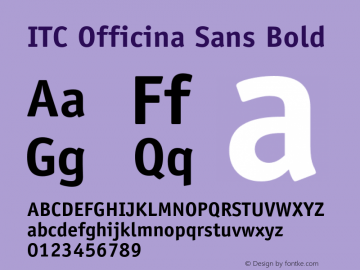 OfficinaSans-Bold OTF 1.0;PS 001.000;Core 1.0.22图片样张