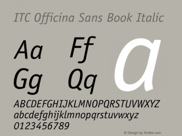 OfficinaSans-BookItalic OTF 1.0;PS 001.000;Core 1.0.22图片样张