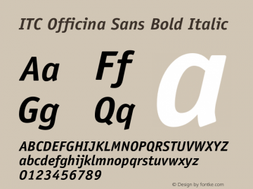 OfficinaSans-BoldItalic OTF 1.0;PS 001.000;Core 1.0.22图片样张