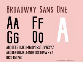 Broadway-SansOne Version 1.000;PS 001.000;hotconv 1.0.88;makeotf.lib2.5.64775图片样张