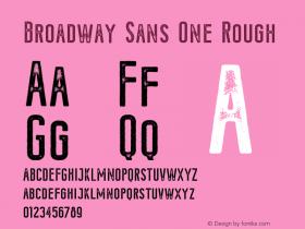 Broadway-SansOneRough Version 1.000;PS 001.000;hotconv 1.0.88;makeotf.lib2.5.64775图片样张