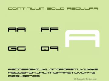 Continuum Bold Continuum Bold图片样张