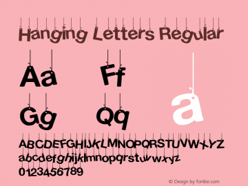 Hanging Letters Version 1.00 February 17, 2014, initial release图片样张