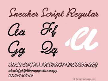 Sneaker Script Regular Version 1.000图片样张