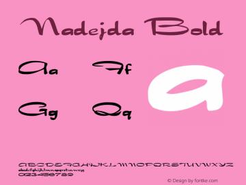 Nadejda  Bold ver.1.beta2 :21/5/98图片样张