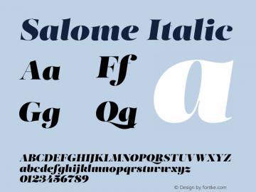SalomeItalic Version 1.000图片样张