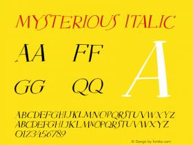 Mysterious Italic Version 1.000图片样张