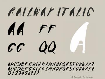Railway Italic Version 1.00 November 15, 2015, initial release图片样张