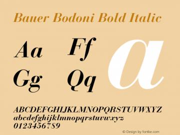 Bauer Bodoni CE Bold Italic Version 001.000图片样张