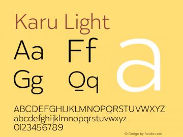 Karu Light Version 1.000;PS 001.000;hotconv 1.0.88;makeotf.lib2.5.64775图片样张