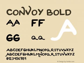 Convoy-Bold Version 1.000;PS 001.001;hotconv 1.0.56图片样张