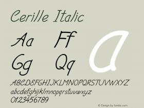 Cerille-Italic Version 1.000图片样张